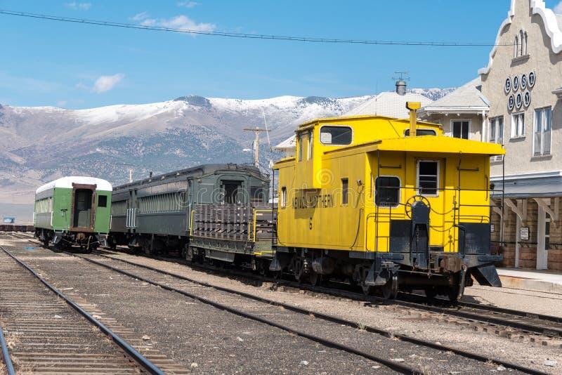 2015年5月11日机车车辆,内华达北交通博物馆,东部伊利 免版税库存图片