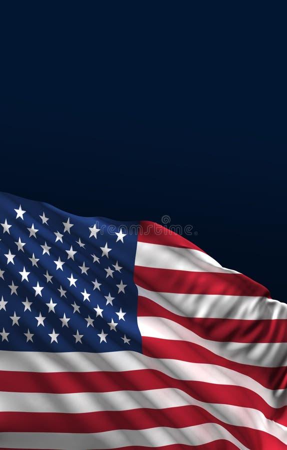 7月4日横幅,美国国旗3D回报,美国艺术 向量例证