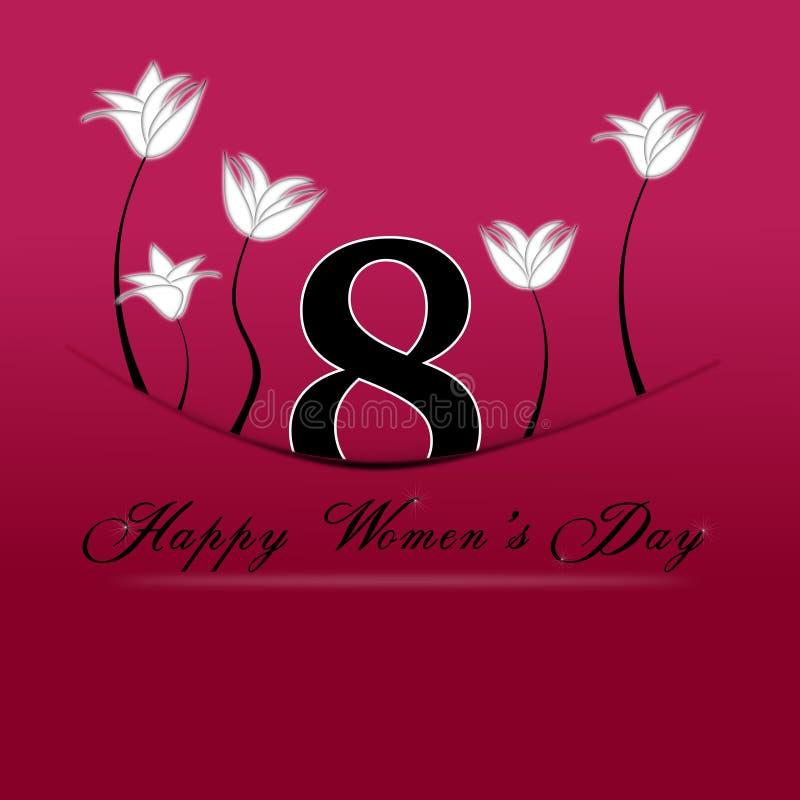 3月8日的愉快的妇女天。8行军卷起与 皇族释放例证