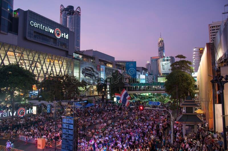 2014年2月9日的曼谷停工 免版税库存照片