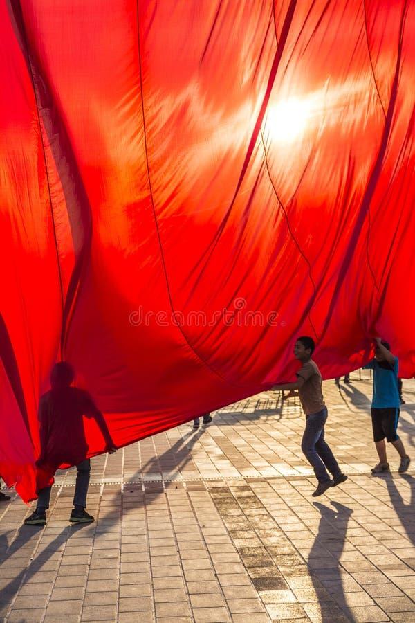 7月15日突然行动尝试抗议在伊斯坦布尔 免版税库存照片