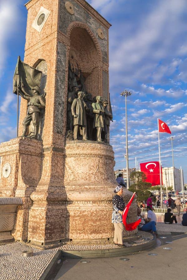 7月15日突然行动尝试抗议在伊斯坦布尔 库存照片
