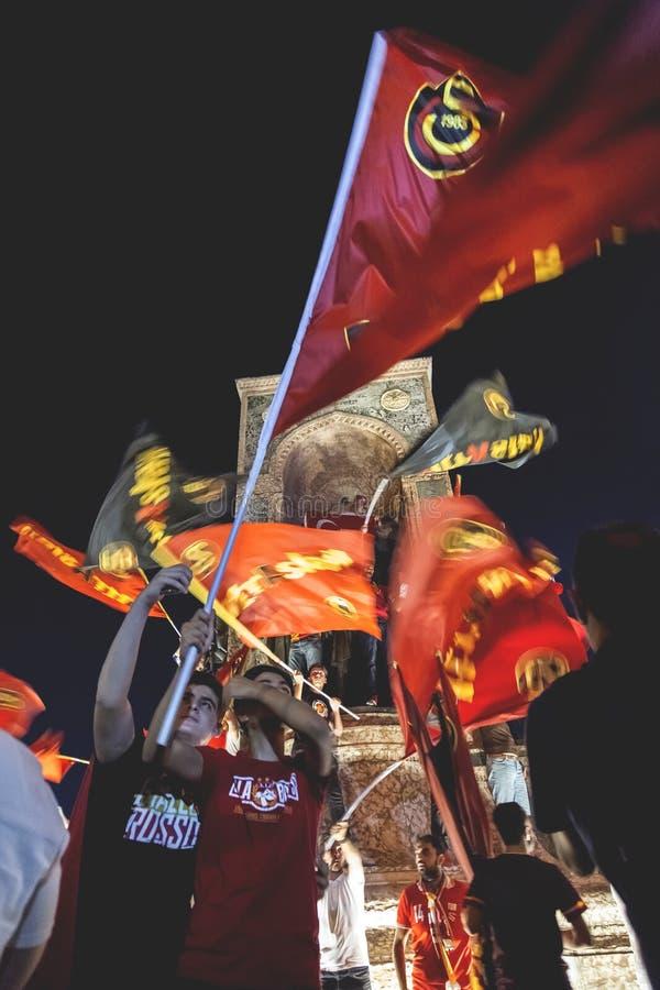 7月15日突然行动尝试抗议在伊斯坦布尔 库存图片