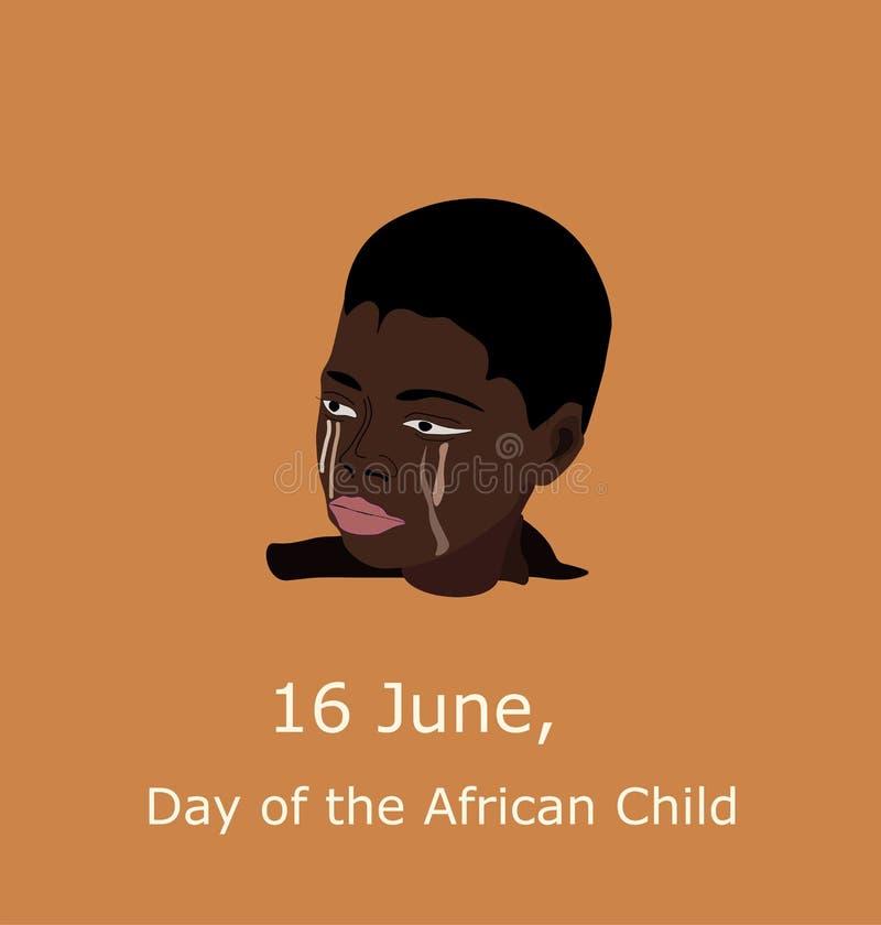 6月16日非洲孩子的国际天 库存图片