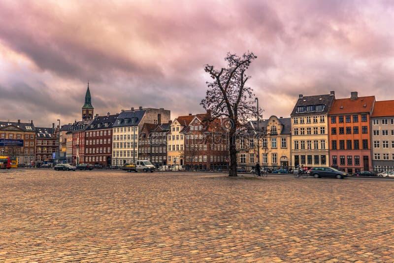 2016年12月05日:典型的丹麦大厦门面在Copenha 库存照片