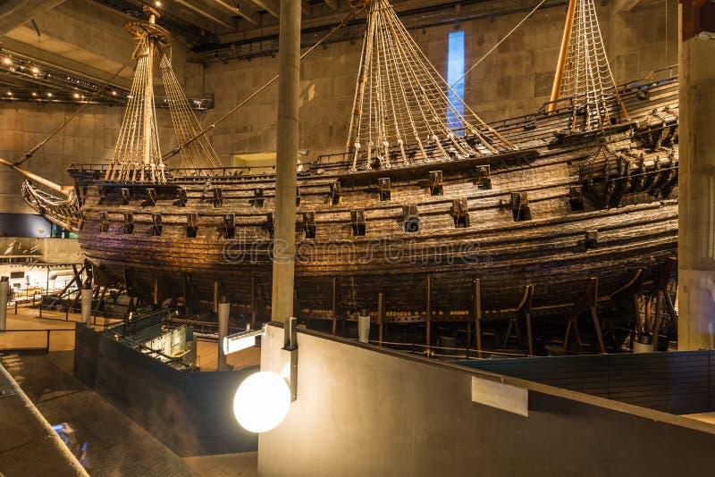 2017年1月21日:脉管船博物馆在斯德哥尔摩,瑞典 免版税库存照片