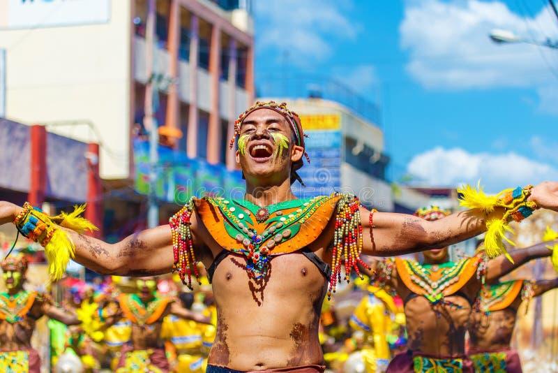 2016年1月24日 伊洛伊洛省,菲律宾 节日Dinagyang Unid 免版税图库摄影