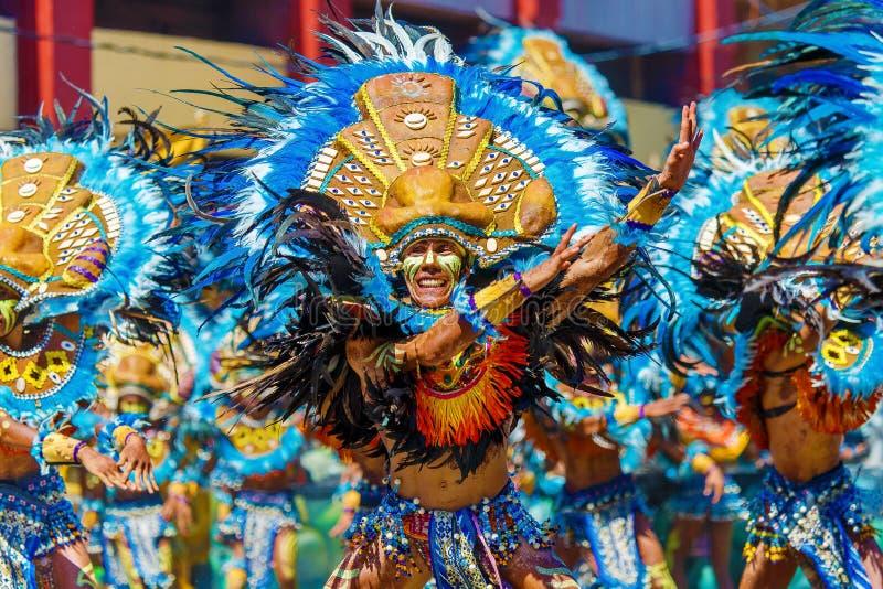 2016年1月24日 伊洛伊洛省,菲律宾 节日Dinagyang Unid 免版税库存照片