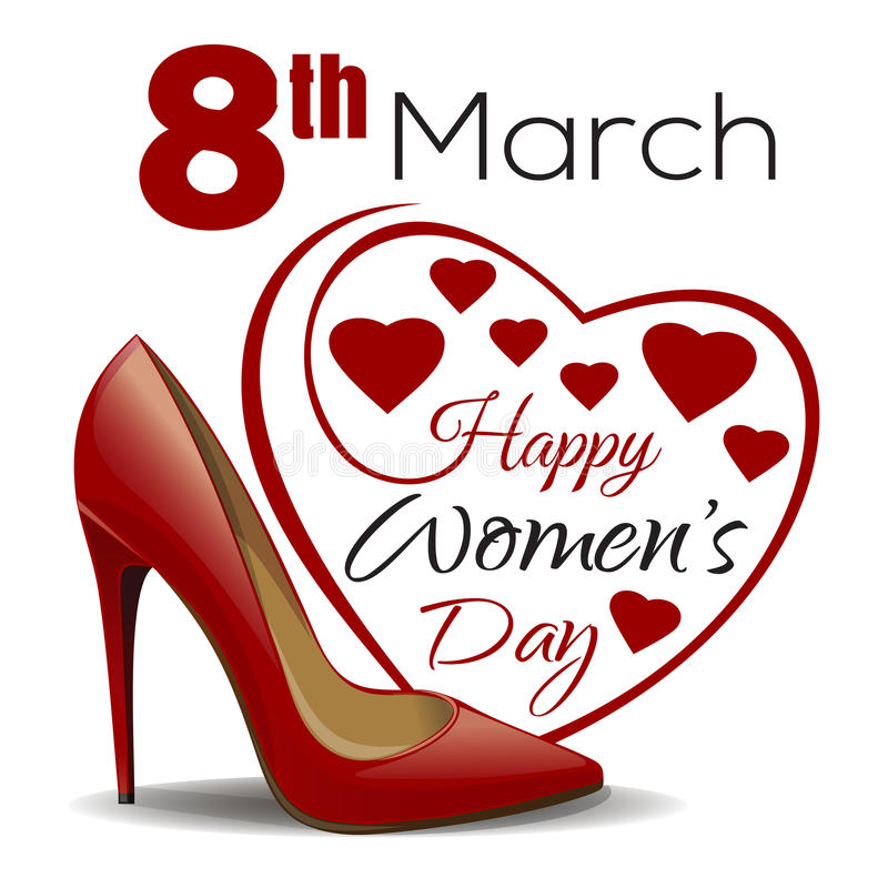 3月8日 愉快的妇女的天设计 向量例证