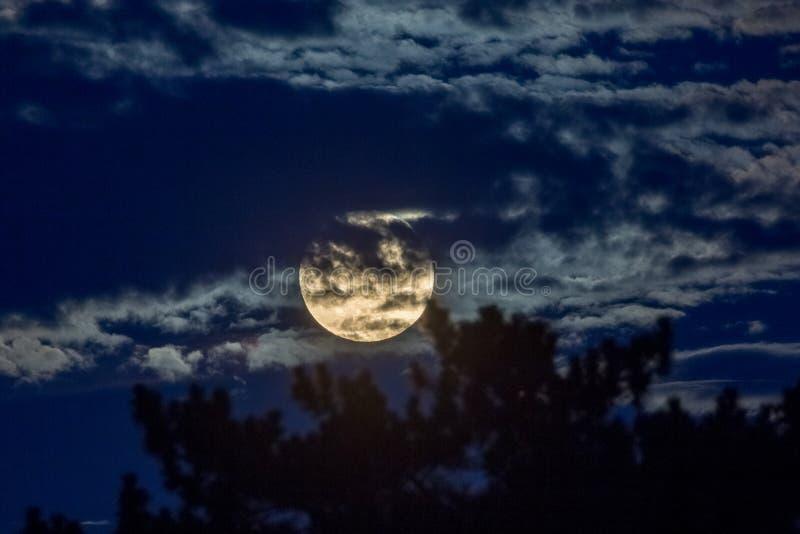 1月31日2018超级月亮 库存照片