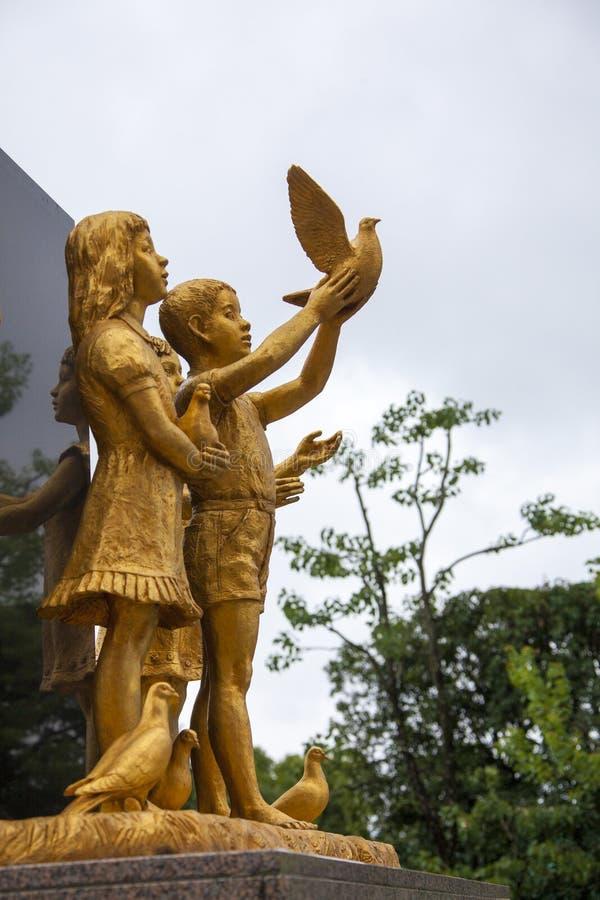 8月19日 2016 - 长崎全国和平Ato的纪念堂 库存照片
