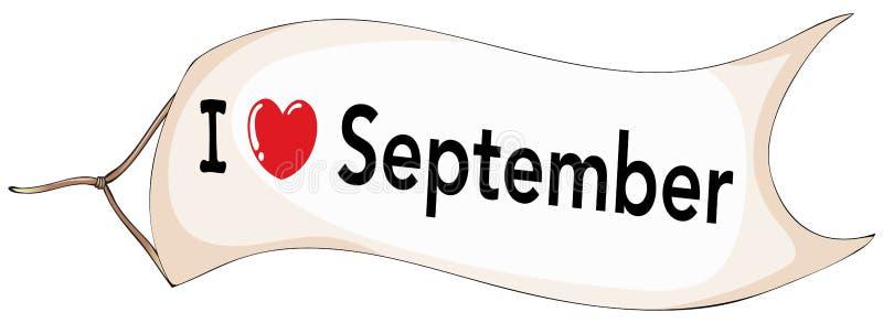 9月 库存例证