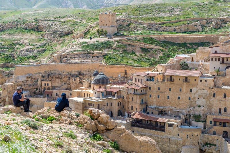 3月Saba修道院 库存图片