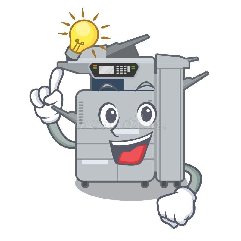 有一个想法影印机机器在字符椅子旁边 库存例证
