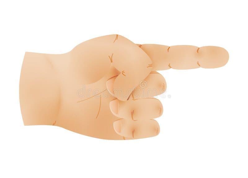 有一个指向的手指的人的手 免版税库存图片