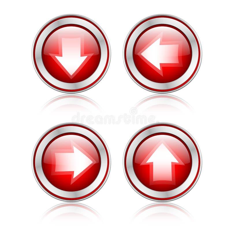 有下载标志的按钮 皇族释放例证