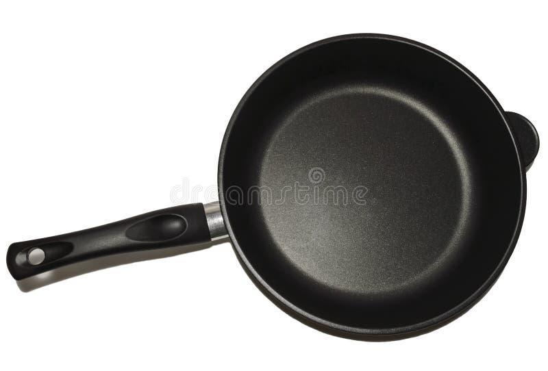 有不粘锅的涂层的煎锅 查出 免版税库存图片