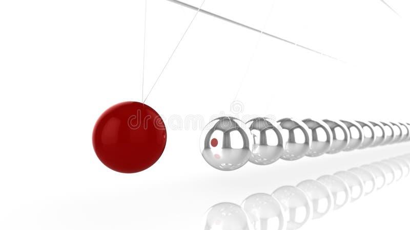 有不计其数的银色球形的摆锤 向量例证