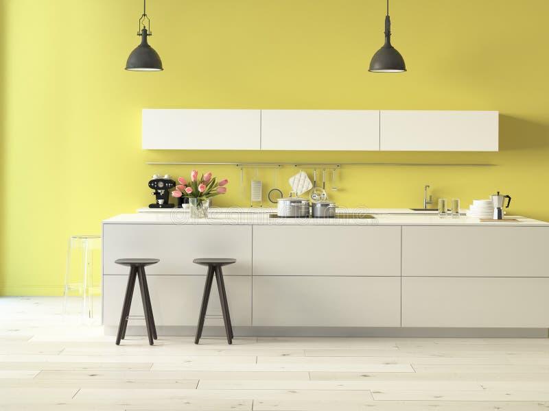有不锈钢装置的豪华厨房 免版税库存照片
