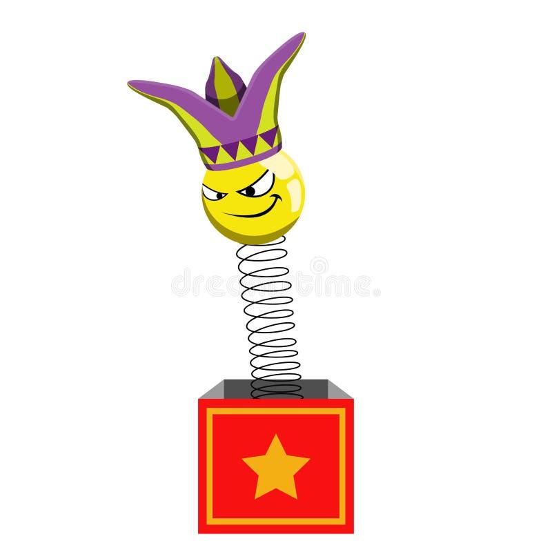 有丑角的笑话箱子 皇族释放例证