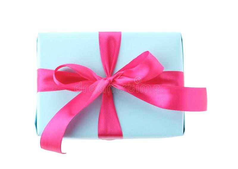 有丝带的美丽的礼物盒 免版税图库摄影