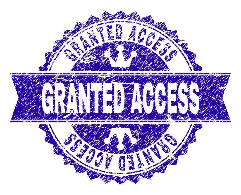 有丝带的被抓的织地不很细被授予的通入邮票封印 库存例证