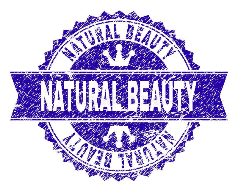 有丝带的难看的东西织地不很细自然美人邮票封印 库存例证