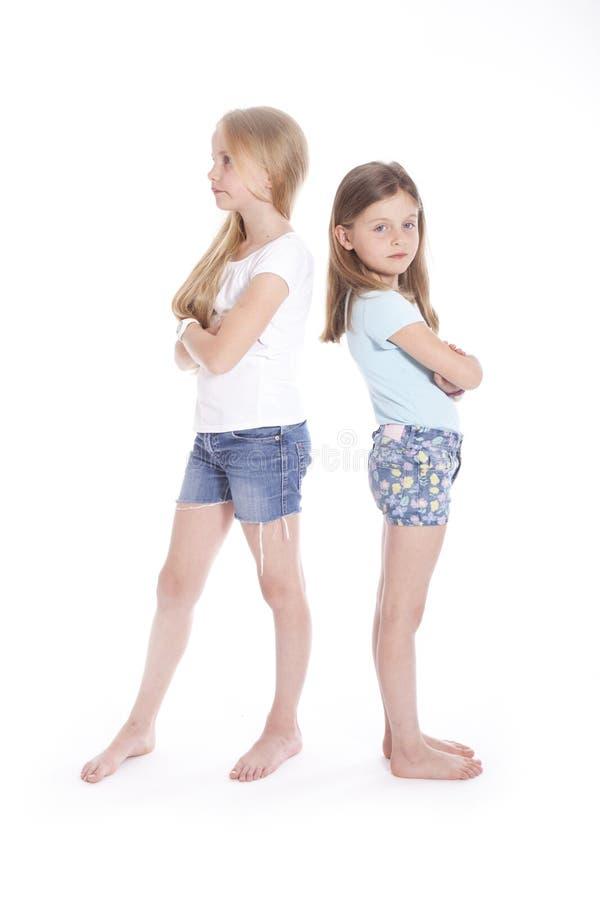 有两个的女孩分歧 库存图片