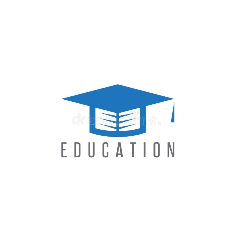 有书的毕业盖帽在它传染媒介设计 向量例证