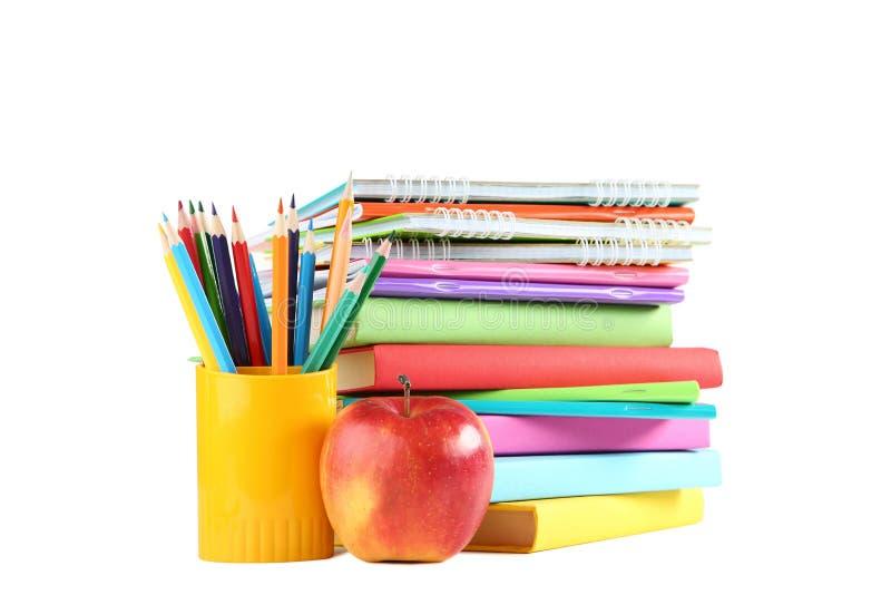 有书的色的铅笔 免版税库存图片