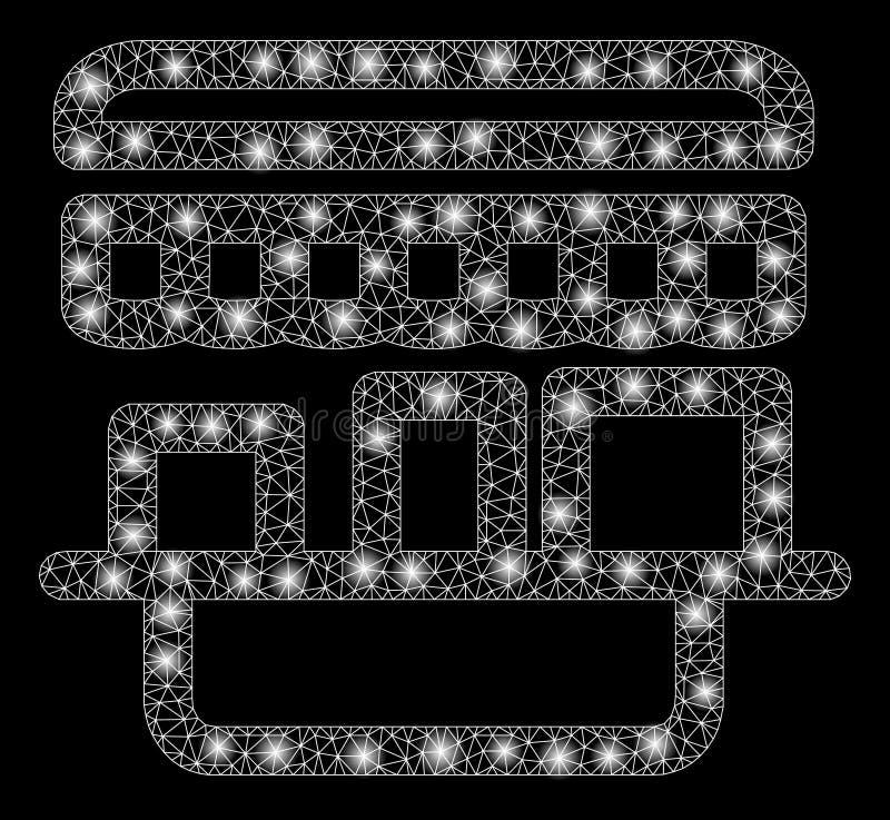 有亮点的发光的滤网尸体商店 皇族释放例证