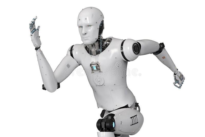 有人的特点的机器人赛跑 向量例证