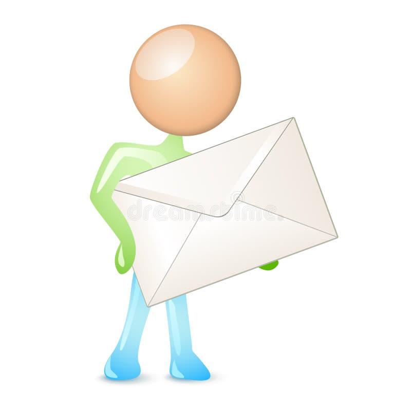 有人的特点的邮寄 向量例证