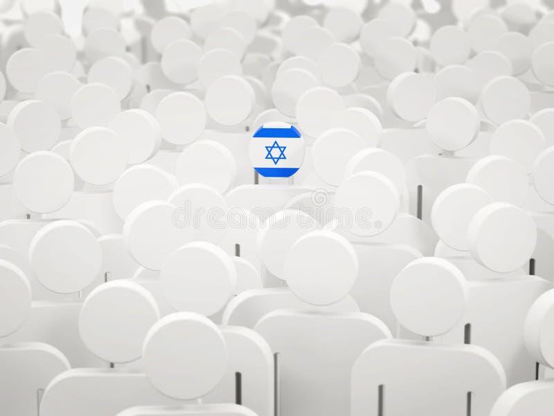 有以色列的旗子的人人群的 皇族释放例证