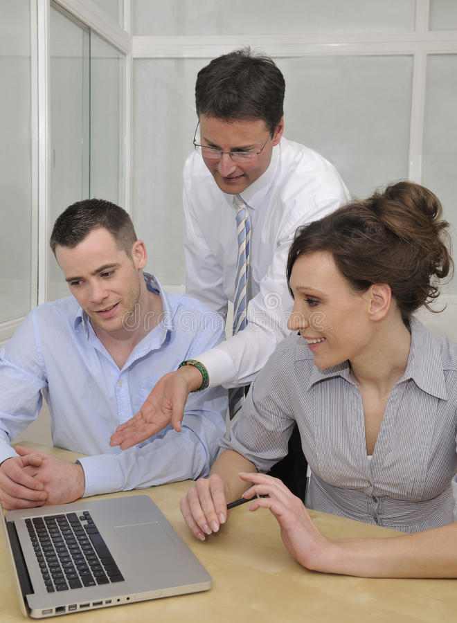 有企业的论述会议小组 免版税库存图片