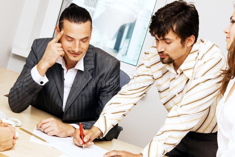 有企业的论述小组 免版税库存图片