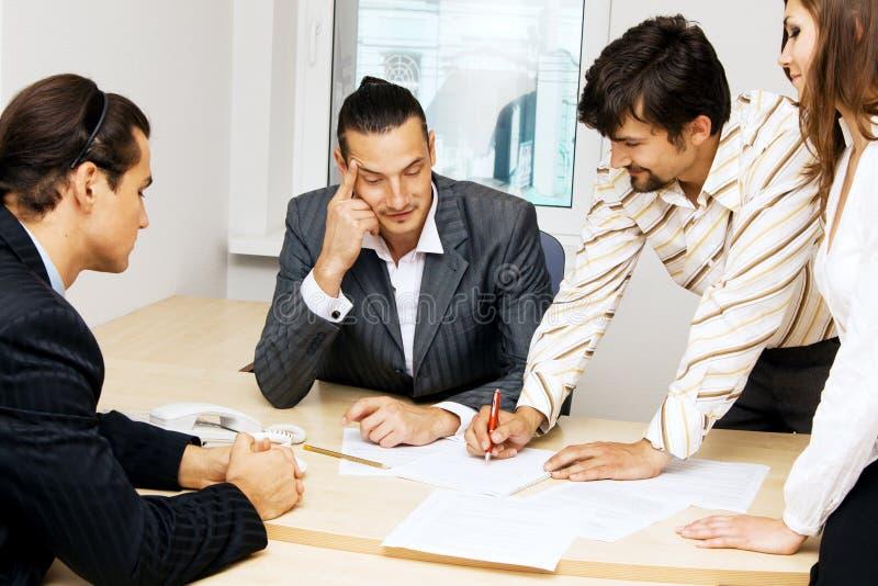 有企业的论述小组 免版税库存照片