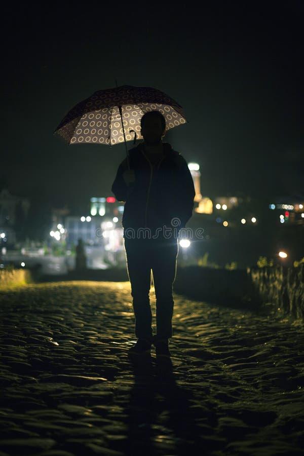 有伞的人 图库摄影