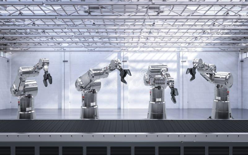有传动机线的机器人胳膊 向量例证