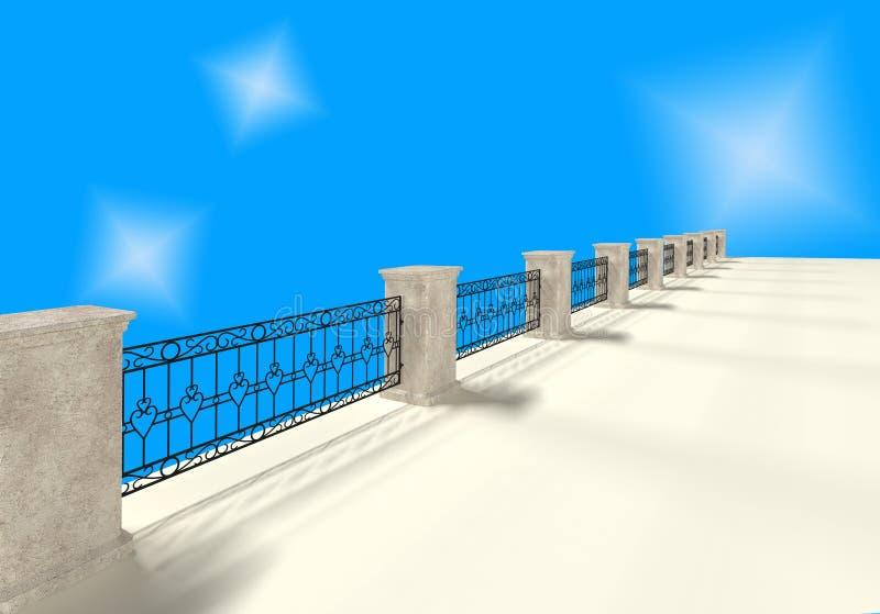 有伪造的格子3D翻译的石篱芭 库存例证
