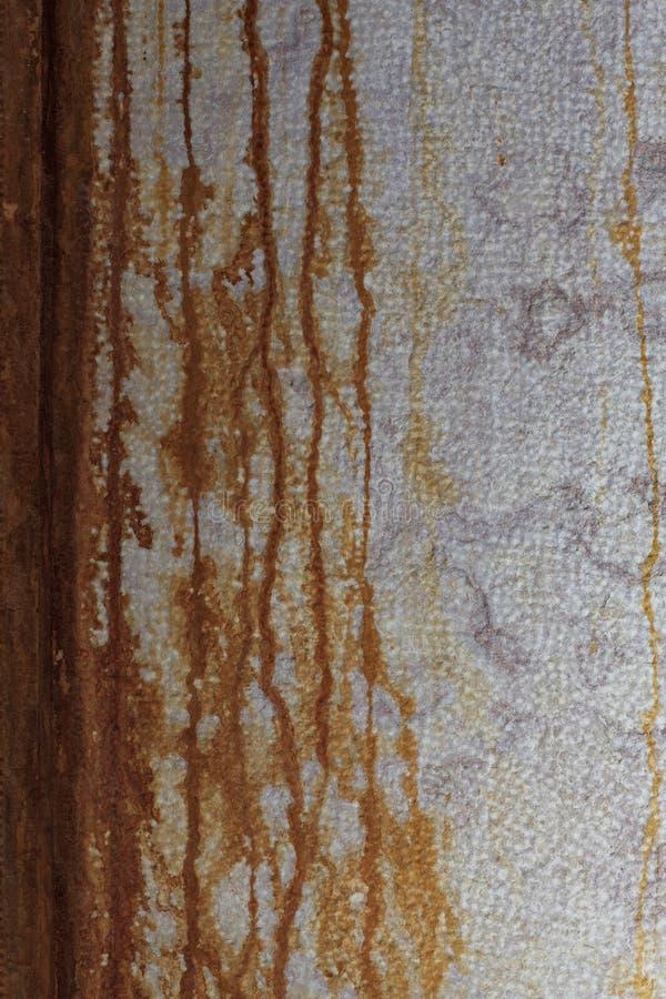 有使用的铁锈的墙壁作为背景 库存照片