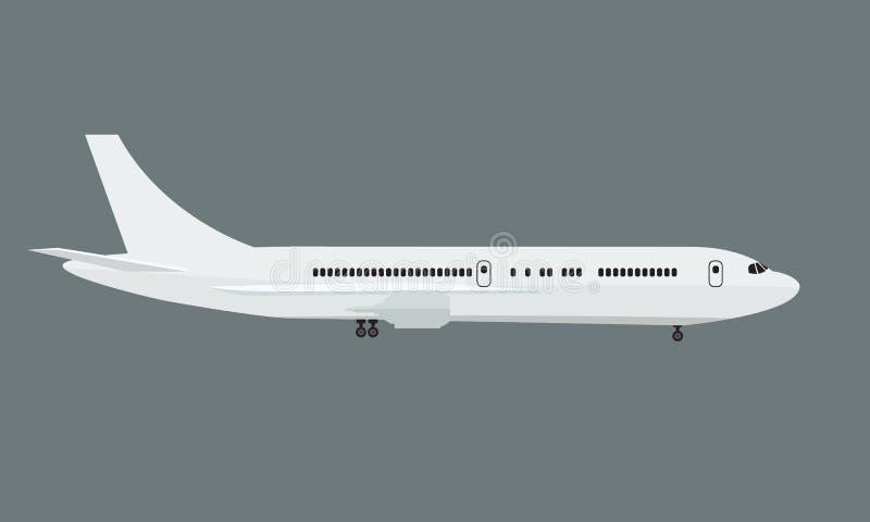 有侧视图嘲笑的飞机 平和单色传染媒介例证 库存例证