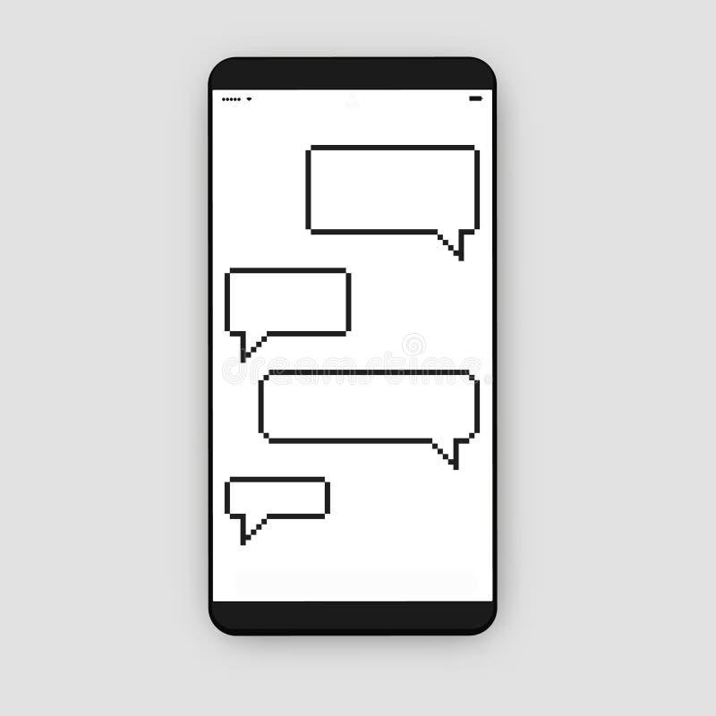 有信息框的智能手机 库存例证