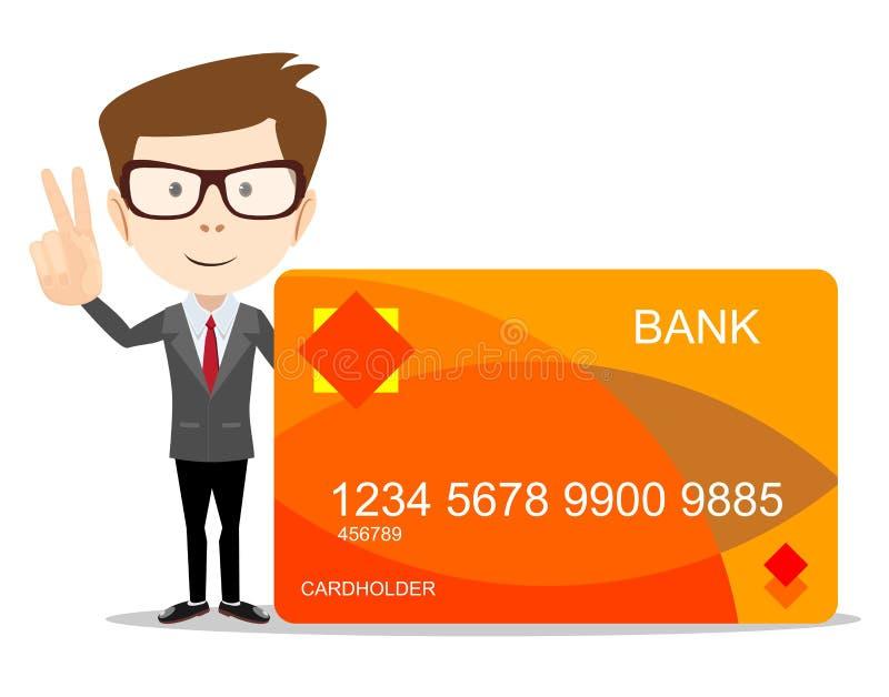 有信用卡的人用于广告 库存例证