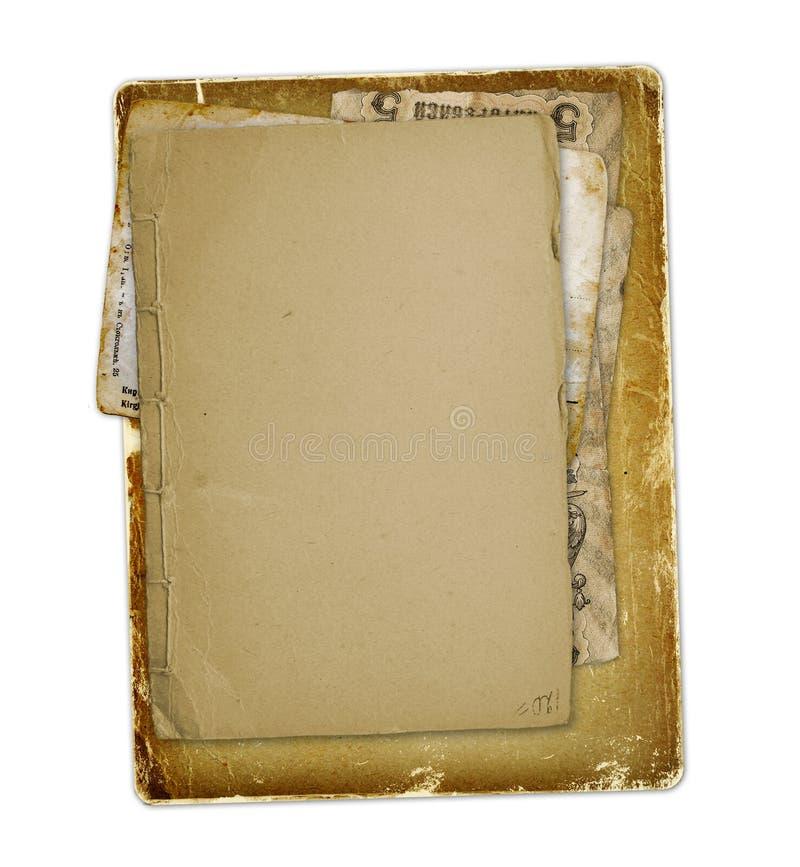 有信件的,照片老档案 免版税库存照片