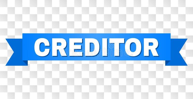 有债权人标题的蓝色磁带 皇族释放例证
