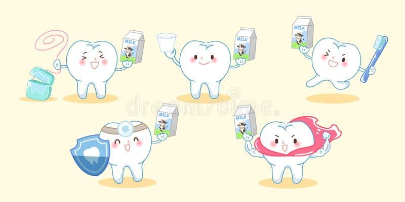 有健康概念的牙 库存例证