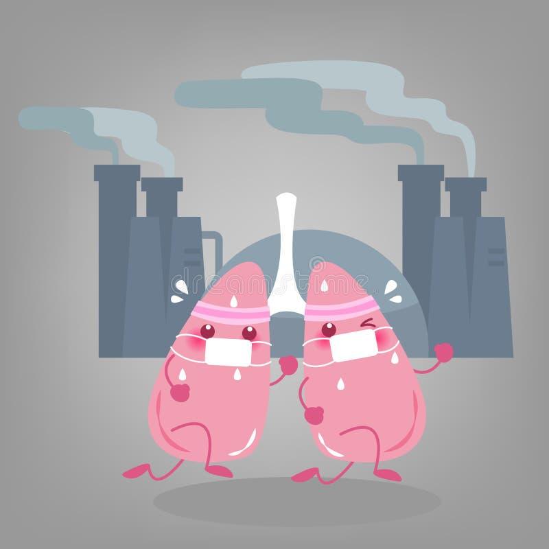 有健康概念的肺 向量例证