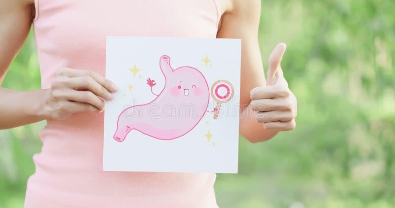 有健康胃的妇女 免版税库存图片