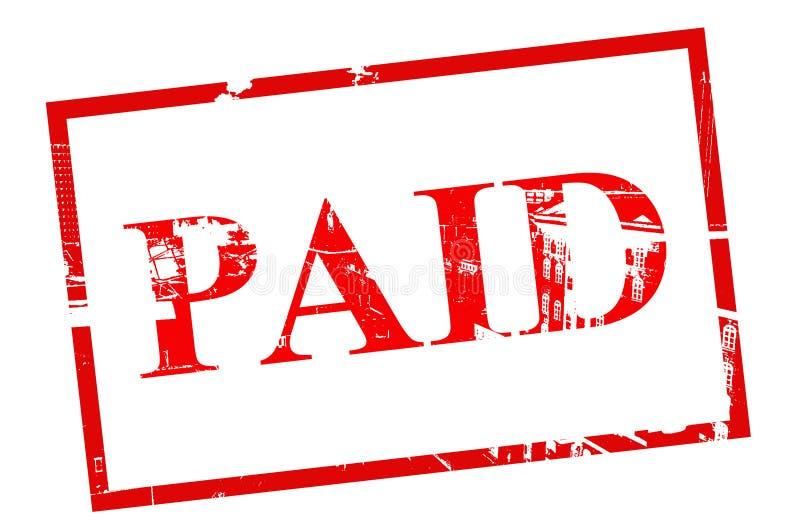 有偿的红色印花税用途 库存例证